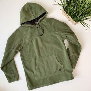 b.u.m. equipment vintage fleece hoodie sage green